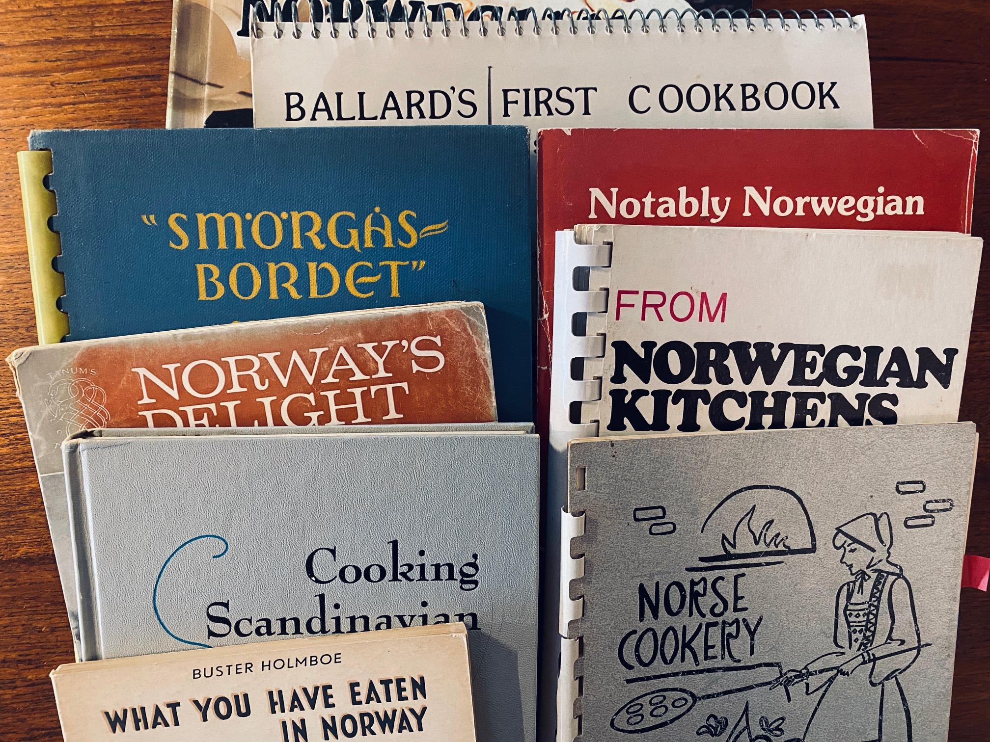 1000 books: all those Scandinavian cookbooks!